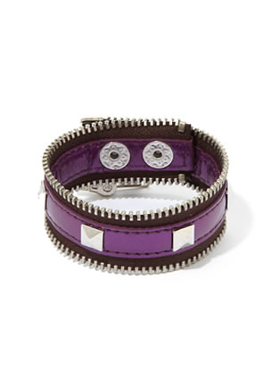 Bcbgeneration Zip Code Zipper Bracelet Purple1 Jpg