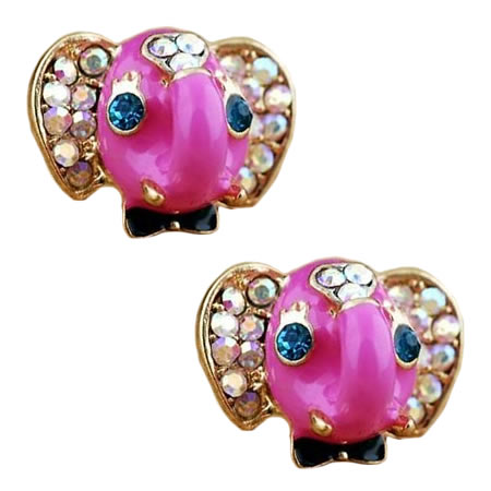 animal online studs baby silver stud unique cartoon cheap earring jewelry young earrings cute product gold elephant