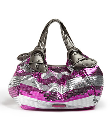 Home / Out of Stock / Betsey Johnson Stripe Me Out Pink Hobo