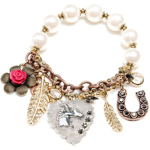 Stock Betsey Johnson Lady Luck Stretch Charm Bracelet Bracelet1 Jpg