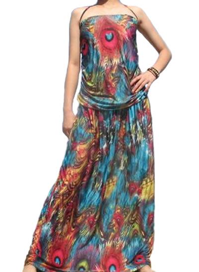 Long Peacock Dress