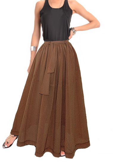 7f3d4021a11c Chic Bohemian Boho Chiffon Maxi Skirt