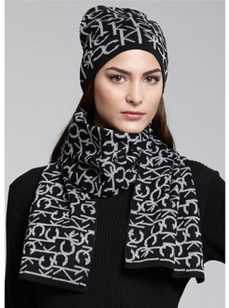 ... CK Logo Jacquard Hat and Scarf Set.  Calvin Klein Logo Hat and Scarf Set1.jpg 12e88738c19