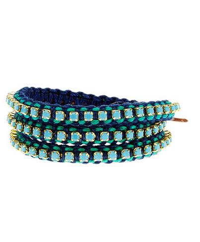 Chan Luu Silver Leather Turquoise Wrap Bracelet1 Jpg