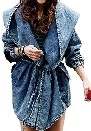 Trendy Denim Hooded Jacket