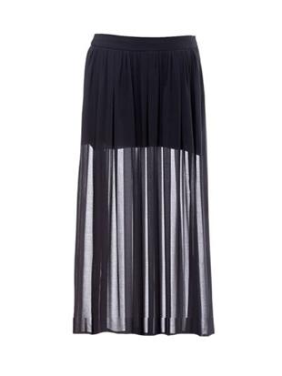 16394cf6b Half Sheer Chiffon Maxi Skirt