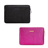 Juicy Couture Stardust Glitter 13 inch Laptop Sleeve Case in black and pink 3c36de649631