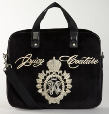 ... Stock Juicy Couture Black Velour Laptop Case with Strap.  Juicy Couture Black Laptop Case1.jpg 2bbb905efb7e