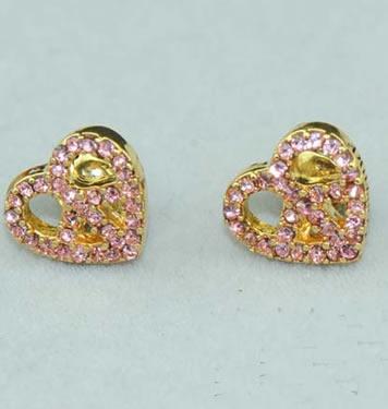 Home Valentine Juicy Couture Pink Heart Earrings Earring1 Jpg