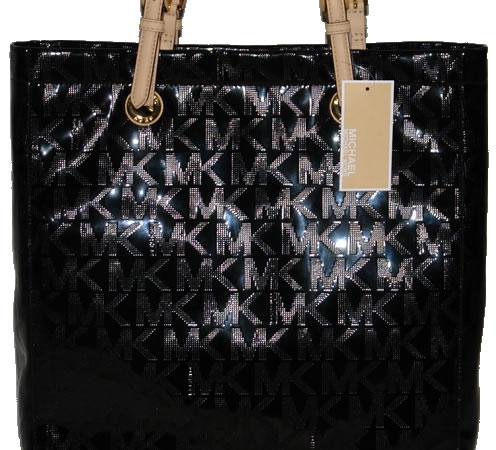 d814807f422e0c Michael Kors Jet Set Tote Handbag Mirror Metallic Black