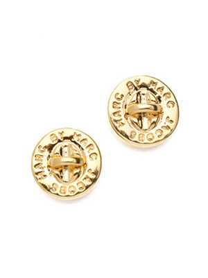 Marc Jacobs Turn Lock Stud Earrings In Gold Gold1 Jpg