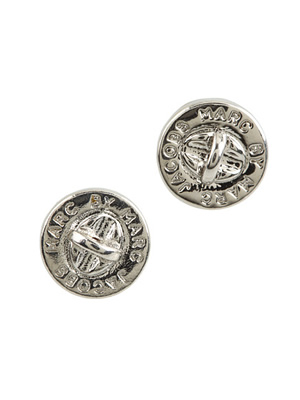 Marc Jacobs Turn Lock Stud Earrings In Silver Silver1 Jpg