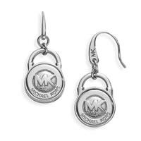 Michael Kors Silver Logo Earrings