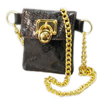 Michael Kors Belt Chain Bag in Brown
