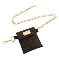 Michael Kors Delancy Belt Chain Bag in Brown