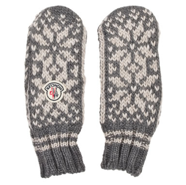 Moncler Fair Isle Knitted Mittens