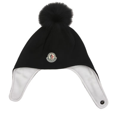 Moncler Fleece  Fox Fur Pom Pom hat1.jpg 2f7c4962991