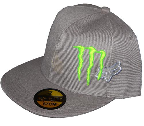 34a06b239a0e4 Monster FOX Gray Racing Cap