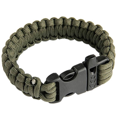 Bracelet With Whistle Buckle In Olive Green