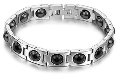 Stainless Steel Magnetic Health Bracelet Stone1 Jpg