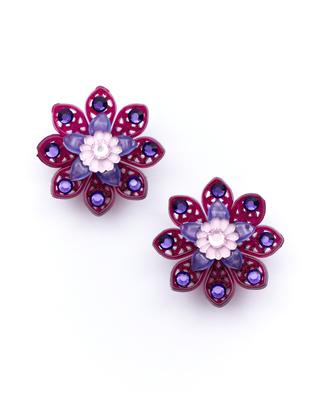Tarina Tarantino Dazzling Flower Earrings1 Jpg