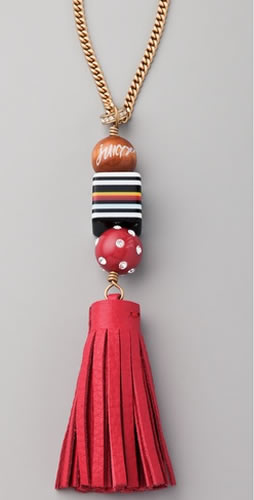Juicy couture pink tassel necklace aloadofball Gallery