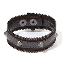 BCBGeneration Graphite Zip-Code Zipper Bracelet