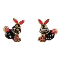 Betsey Johnson Critter Boost Rabbit Stud Earrings
