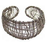 Black_Metal_Messy_Wire_Wrapped_Cuff_Bracelet0.jpg