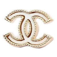 Double-C-Gold-Tone-Thick-White-Earrings-0.jpg