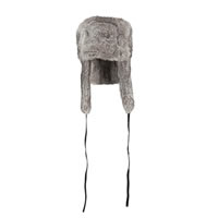 Hat Attack Rabbit Fur Grey Trapper Hat
