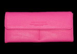 Ladies Hot Pink Snap Wallet