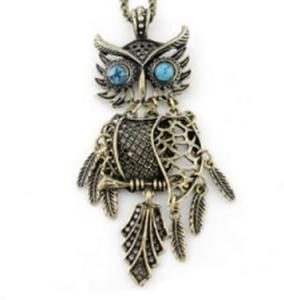 Bright owl pendant necklace homewatchesbright owl pendant necklace aloadofball Image collections