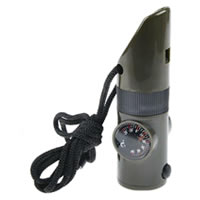 7-in-1 Survival Whistle with LED Light