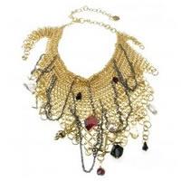 Disney Couture Snow White Multi-Chain Necklace Gold