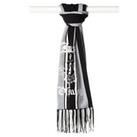 Juicy Couture 'House of Juicy' Black Merino Wool Scarf