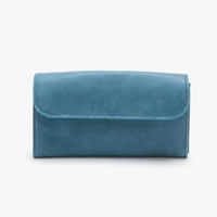 Linea Pelle Dylan Trifold Wallet In Sea Blue