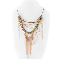 Lucky Brand Bonnie & Clyde Chain Link Necklace