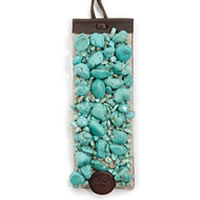 Lucky Brand Turquoise Stitched Bracelet