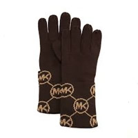 MICHAEL Michael Kors Chocolate 'MK' Gloves