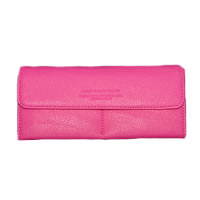 Ladies Hot Pink Snap Wallet