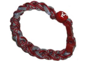 3 Rope Titanium Tornado Bracelet<br /> (Alabama Crimson Tide)