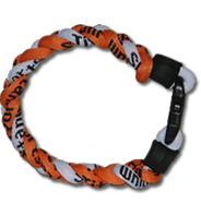 3 Rope Titanium Tornado Bracelet (Orange/White/Orange)