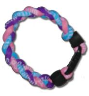 3 Rope Titanium Tornado Bracelet (Pink/Blue/Purple)