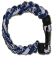 3 Rope Titanium Tornado Bracelet (Blue/White/Blue)