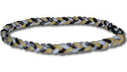 3 Rope Tornado Titanium Necklace (Black/Gold/White)