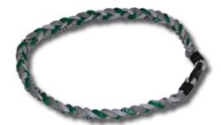 3 Rope Tornado Titanium Necklace (Green/Grey/White)