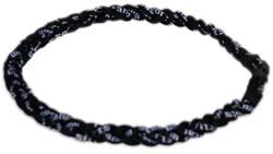 3 Rope Tornado Titanium Necklace (Black/Black/Black)