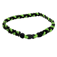 3 Rope Tornado Titanium Necklace (Black/Neon Green/Black)