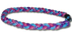 3 Rope Tornado Titanium Necklace (Pink/Purple/Blue)